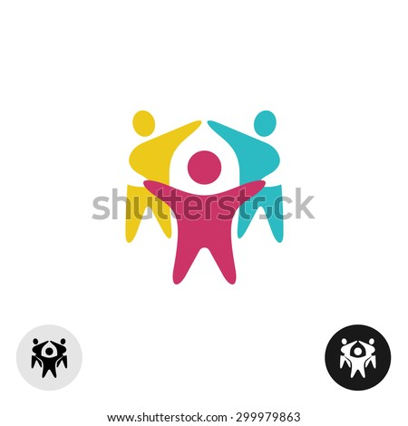 Famille Creative trois personnes conception de logo résumé Photo stock © kyryloff