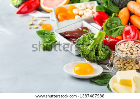 Balanced diet nutrition for liver, healthy clean eating concept Stock photo © Illia