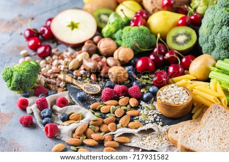 Selection of food rich in antioxidants and vitamins and mineral  sources. Stock photo © Illia