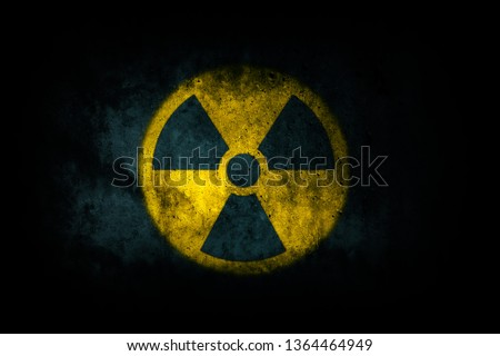 Radioativo símbolo nuclear assinar radiação perigo Foto stock © kyryloff