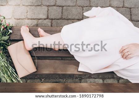 женщину молодые невеста красный подвенечное платье голый Сток-фото © ElenaBatkova