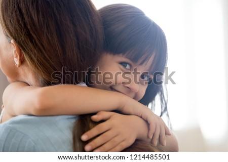 привязчивый брюнетка молодые матери небольшой довольно Сток-фото © vkstudio