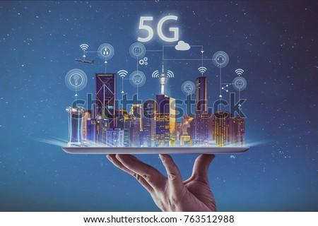 Strony smartphone 4g sygnał związku prędkości Zdjęcia stock © karetniy