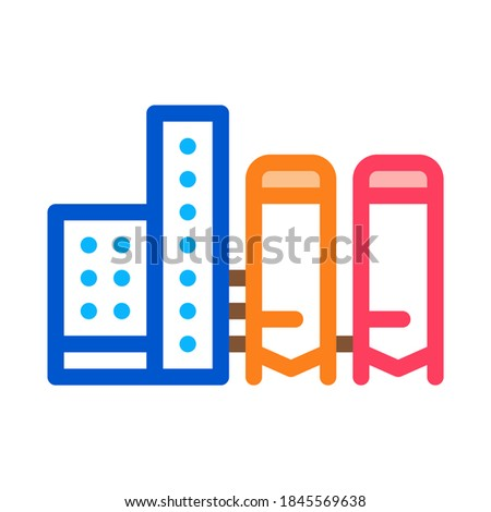 thermal towers with heat towers icon vector outline illustration Stock photo © pikepicture