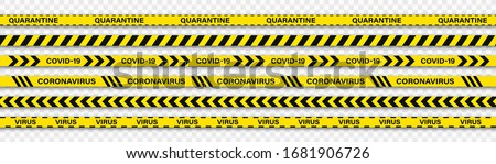 Vector biohazard danger yellow black tape isolated on transparent background. Safety red fencing Stock photo © Iaroslava