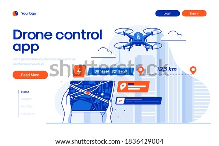 Aerial photography concept landing page Stock photo © RAStudio