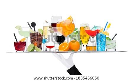 лоток различный коктейли льда изолированный Martini Сток-фото © DenisMArt