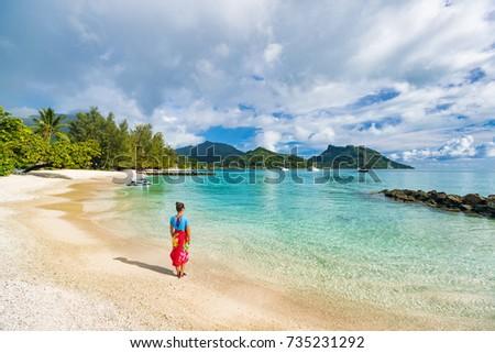 Statek wycieczkowy luksusowe tahiti wakacje wyspa francuski Zdjęcia stock © Maridav