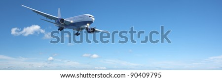 jet aircraft in a blue sky panoramic composition in high resolu stock photo © moses