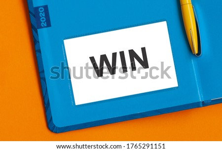 Victory Text In Orange And 3d As Symbol For Winning And Accomplishment Stock photo © stuartmiles