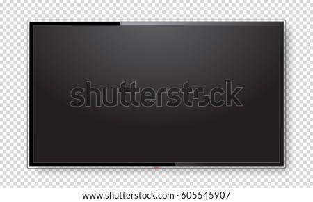 ベクトル 液晶 画面 空っぽ 表示 コンピュータ ストックフォト © freesoulproduction