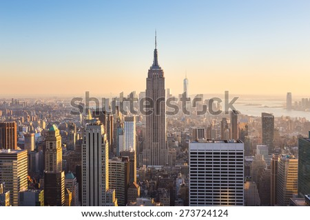 Görmek Manhattan Empire State Binası New York ABD Bina Stok fotoğraf © phbcz