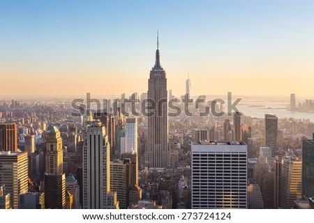 vue · Manhattan · Empire · State · Building · New · York · City · USA · ville - photo stock © phbcz