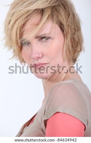 50 años vieja pelo ira problema Foto stock © photography33