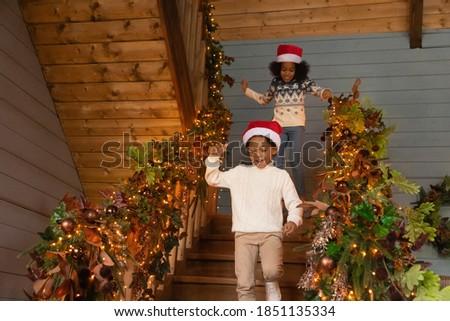 halfbloed · baby · genieten · christmas · ochtend - stockfoto © feverpitch
