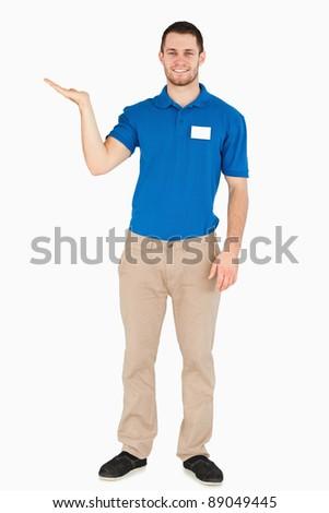 Jeunes vendeur Palm blanche affaires Photo stock © wavebreak_media