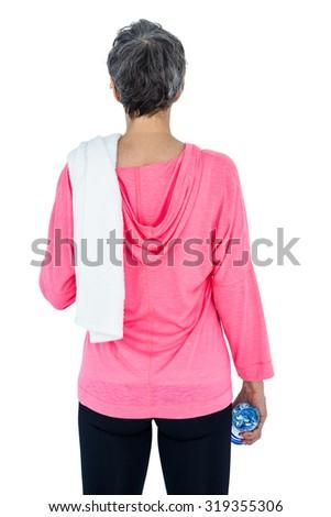 Widok z tyłu szczupły kobieta ręcznik biały Zdjęcia stock © wavebreak_media