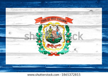 flag of US state of virginia on grunge wooden texture precise pa Stock photo © vepar5