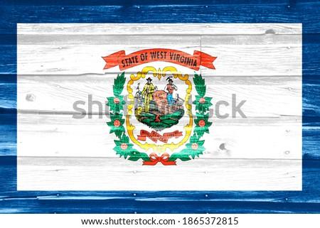 vlag · Virginia · grunge · houten · textuur · nauwkeurig - stockfoto © vepar5