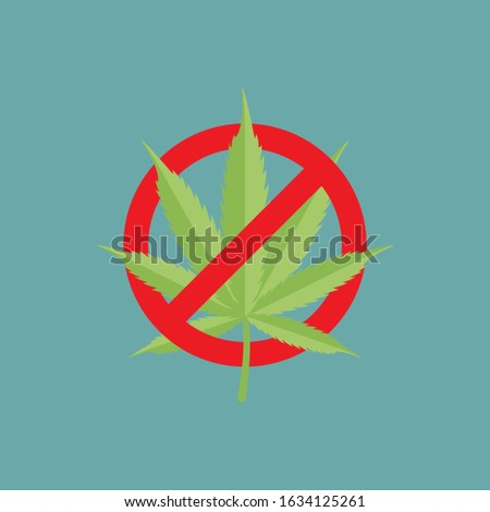 sign forbidden circle drug cannabis symbol no narcotic isolated vector illustration stock photo © hermione