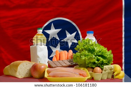 complete waved flag of american state of tennessee for backgroun stock photo © vepar5