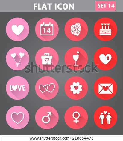 Set valentine's day buttons, love romantic sign Stock photo © Ecelop