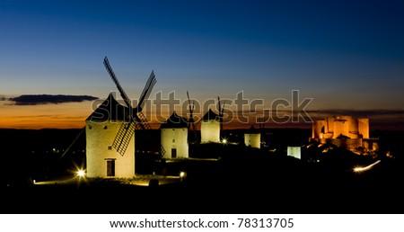 ストックフォト: 城 · 1泊 · 旅行 · アーキテクチャ · 風車 · ミル