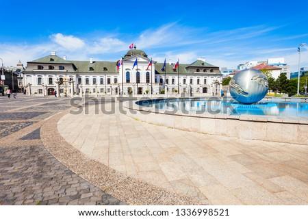 Presidents- paleis vierkante Bratislava Slowakije Stockfoto © phbcz