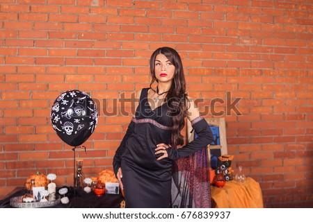 halloween · sexy · strega · ragazza · party · donne - foto d'archivio © carodi