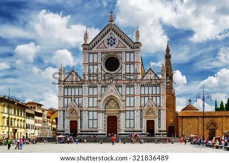 Bazilika mikulás híres templom Florence szent Stock fotó © bloodua