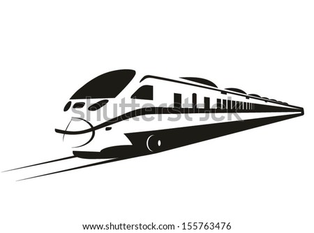 Photo stock: Bleu · modernes · vitesse · bullet · train · vecteur