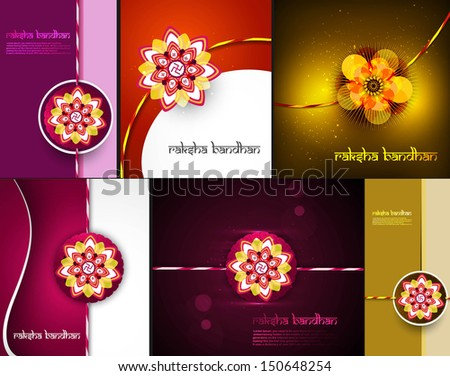 Raksha bandhan beautiful celebration 6 collection bright colorfu Stock photo © bharat