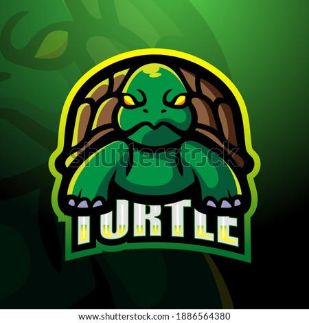 turtle animal head symbol for mascot or emblem design logo vector illustration for t shirt sketch stock photo © hermione