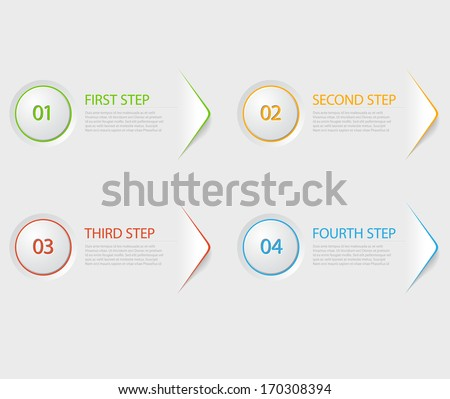 one two three four   flat vector progress icons for four steps stock photo © orson