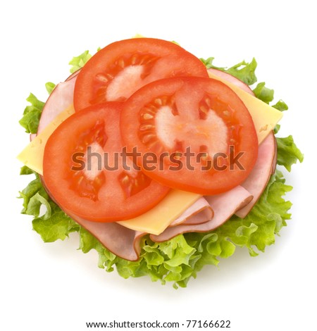 açmak · sandviç · jambon · peynir · dilim · çavdar - stok fotoğraf © natika