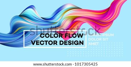 Foto stock: Abstrato · colorido · onda · fundo · arte · retro