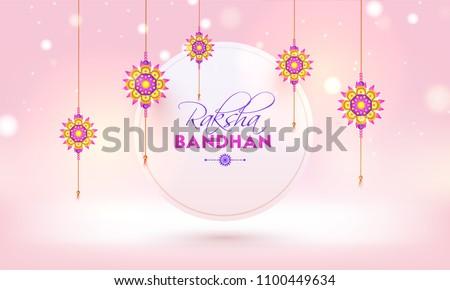 Vector illustration Indian festival Raksha Bandhan rakhi colorfu Stock photo © bharat