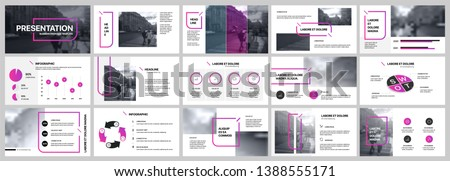 Business brochure template - purple and white design with editable diagram Stock photo © Mischoko