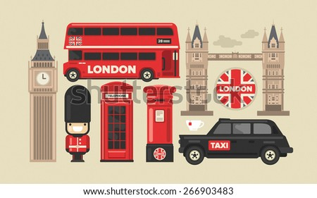 Londen verdubbelen Rood bus Big Ben vector Stockfoto © leonido