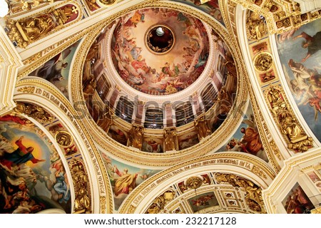 interior decoration of saint isaacs cathedral in st petersburg stock photo © mahout