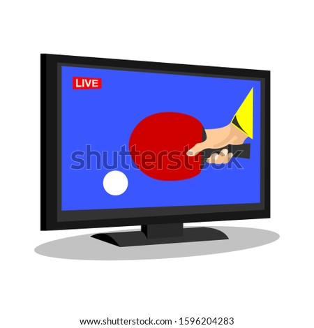 Background with Flat computer monitor with tennis player image.  Stock photo © leonido