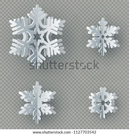 snowflake icon winter theme winter snowflakes of different shapes stock photo © littlecuckoo