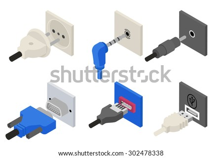 Electronic collection - power connector on computer mainboard Stock photo © nemalo