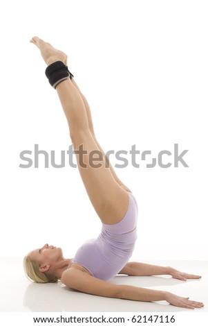 portre · genç · kafkas · kadın · jimnastik · ayak · bileği - stok fotoğraf © ambro