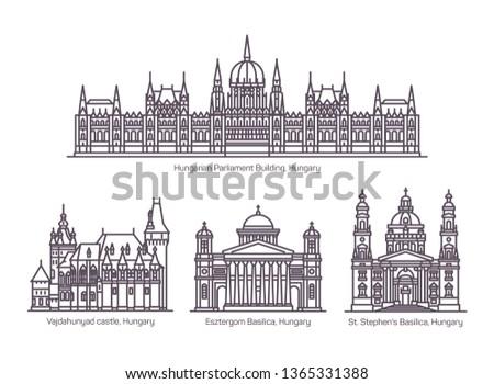 Foto stock: Basílica · Hungria · cidade · norte · direito · banco