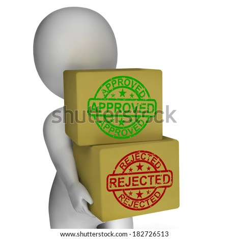 Approved Rejected  Boxes Mean Product Tests Or Checking Quality Stock photo © stuartmiles