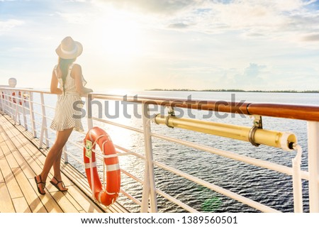 Fille croisière illustration mer bateau vacances Photo stock © adrenalina