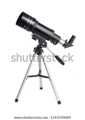 Telescope isolated on white background for search star universe, Stock photo © FrameAngel
