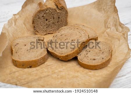 brood · eigengemaakt · brood · zwarte · mosterd · zaden - stockfoto © mcherevan