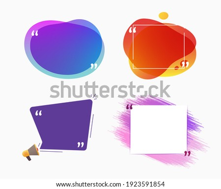 Quotation Mark Frame COLLECTION with Flat style and space for text. Stock photo © DavidArts